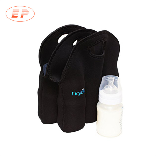 Black Chiller 2 Bottle Neoprene Wine Tote Bag